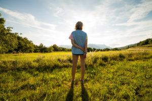 girl in field splitshire