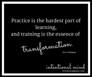 Practice is the hardest part of learning, and training is the essence of transformation.