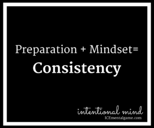 Preparation + Mindset = Consistency
